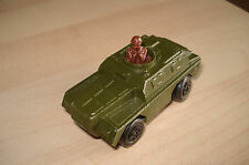 Matchbox Superfast N°28b Stoat OLIVE GREEN Military Armoured Car VNMint Unboxed