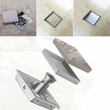 Stainless Invisible Floor Drain Waste Strainer Kitchen Bathroom Shower Square