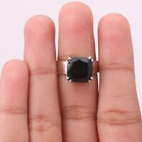 Black Onyx Gemstone Handmade Jewelry 925 Solid Sterling Silver Ring Size 7