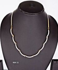 Indian Jewelry Fashion American Diamond AD Trendy Bollywood Necklace Earring Set