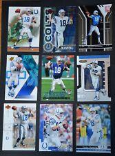 Peyton Manning 18 card lot Indianapolis Colts