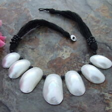 "Black Onyx White Shell 20"" Necklace"