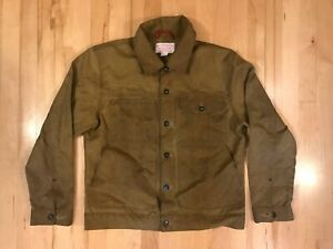 FILSON Tan Tin Cloth SHORT CRUISER JACKET Unlined Style 10410 Size Medium
