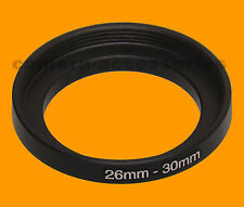 26mm to 30mm 26-30 Stepping Step Up Filter Ring Adapter 26-30mm 26mm-30mm M to F