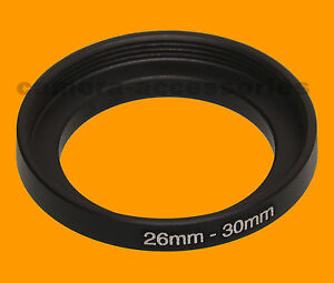 26mm to 30mm 26-30 Stepping Step Up Filter Ring Adapter 26-30mm 26mm-30mm (UK)