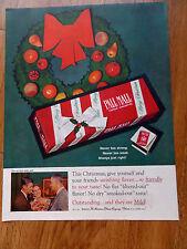 1959 Pall Mall Cigarette Ad A Christmas Theme