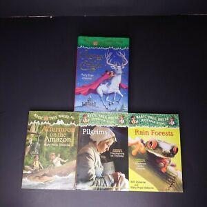 Lot of 4 Magic Tree House Books 29 6 Pilgrims Rain Forests Mary Pope Osborne