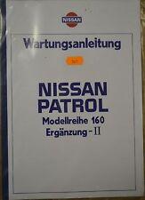 NISSAN PATROL MODELEIHE 160 II ORIGINAL WARTUNGSANLEITUNG NEU OVP NICHT GEBUNDEN