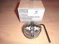 Planscheibe Vierbackenfutter  einzeln verstellbar 55mm neu f. EMCO Unimat 3 + 4