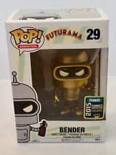 Futurama Bender de oro 2015 Comic Con Exclusive Funko Pop Figura De Vinilo Nuevo