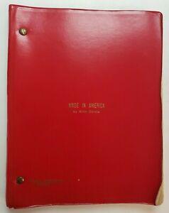 MADE IN AMERICA / Alvin Boretz 1983 Stage Play Script, Mark Taper Forum in L.A.