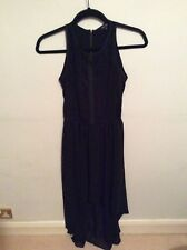 River Island black dress size 6 lace details midi to full length