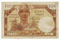 1947 France Tresor 100 Franc Banknote M9
