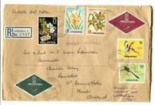 "Malaysia – Singapore 1964 registered Forces Mail R.A.F. cover ""Changi B"" to UK"