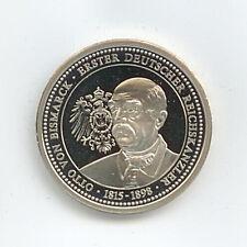Medaille Otto v. Bismarck 1. Reichskanzler 1815-1898 Ø 30 mm 12 Gr. B62/08