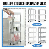 3 Tier Slim Slide Out Trolley Storage Holder Rack Organiser Kitchen