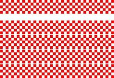 CHECKER STRIPES RED N WHITE CAR VAN VINYL STICKERS DECALS RACING SPORTS FLAG