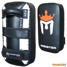 MEISTER MMA ELITE THAI PADS - Muay Thai Kick Strike Pro Focus Mitts NEW PAIR (2)