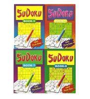 SET 4 SUDOKU POCKET BOOKS A5 SIZE 111 MATHS PUZZLES PER TRAVEL BOOK SERIES 3035