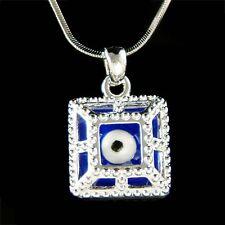 Square Frustum Royal Blue ~Evil Eye~ Protection Ward Off Necklace Unisex Jewelry