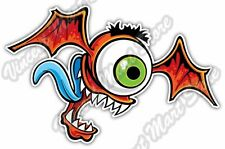 "Flying Eyeball Eye Scary Evil Cartoon Funny Car Bumper Vinyl Sticker Decal 5""X4"""