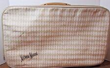 Vintage NEIMAN MARCUS Tweed Tote SUITCASE Overnight carry on Luggage