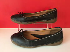 a7c6de78e14a Clarks Plus Black Leather Comfort Pump Ballet Dolly Flat Shoes UK 8 EUR 42