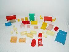 Vintage Marx & Unmarked Plastic Doll Furniture