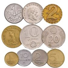 MIXED LOT 10 HUNGARY COINS FILLER FORINT HUNGARIAN OLD COINS 1946 - 2018