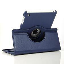 NAVY BLUE  360° Rotating iPad MINI SMART PU Leather  Case + 2Sp