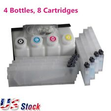 USA - Roland Bulk Ink System - 4 Bottles 8 Cartridges for Roland FH-740 / XF-640