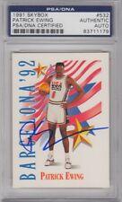 Patrick Ewing USA DREAM TEAM Signed AUTOGRAPH 1991 SkyBox Olympic Team PSA DNA