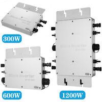 WVC-300W/600W/1200W 110V/220V MPPT Solar Grid Tie Micro Inverter Waterproof IP65