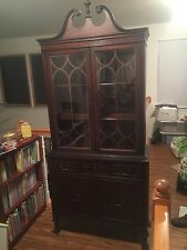 """China Cabinet Antique Solid Mahoganay 80""""Hx36""""Wx15""""D Ships Freight, MAKE OFFER"""