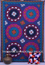 Uzbek Embroidered Suzani Bedding Bedspread Cotton Bedsheet Wall Hanging Indian
