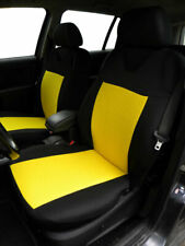 2 YELLOW FRONT CAR SEAT COVERS WITH DOTS FOR FORD FIESTA FOCUS MONDEO