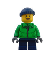 Lego Junge Winterjacke Beine in dunkelblau City hol065 Minifigur Figur Town Neu