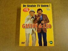 4-DISC DVD + 2CD BOX / GASTON & LEO - DE STRAFSTE TV STOTEN! ( VRT )
