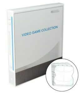 80 Disc Wii Themed Video Game Binder, w/ 10 Disc Pages - Nintendo Wii and Wii U