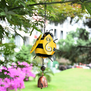 Wind Chimes Home Decor Insect Shape Outdoor Garden Hanging Pendant Ladybug Bee
