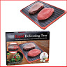 RAPID DEFROSTING FOOD NON STICK PLATE TRAY FAST THAW BOARD DEFROST MEAT FROZEN