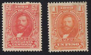 Honduras - 1903 - SC 117-18 - MH - High values