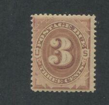 1879 US Postage Due Stamp #J3 Mint Never Hinged Average Centering