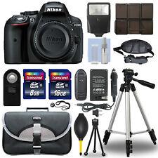 Nikon D5300 24.2 MP Digital SLR Camera Body + 24GB Top Accessory Bundle