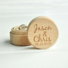 Personalized Rustic Ring Bearer Box , Wooden Wedding Ring Box Bearer Pillow Box