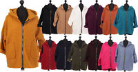 Italian Ladies Women Knit Hooded Coatigan Cardigan Jacket Coat Plus Size 14-22