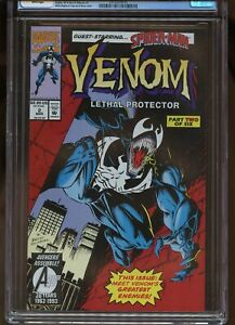 VENOM: LETHAL PROTECTOR #2 CGC GRADED 9.8 WHITE PAGES 1993 #2010269016