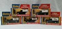 5x vintage Dinky 277 Police Land Rover with opening doors / bonnet + figure VGC
