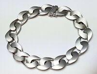Mattiertes 835 Silber Armband 60er Jahre Vintage Hersteller Punze /19,5 cm A 796