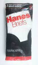 Vintage 1985 Hanes Briefs Underwear Size 40 Pack Of Three